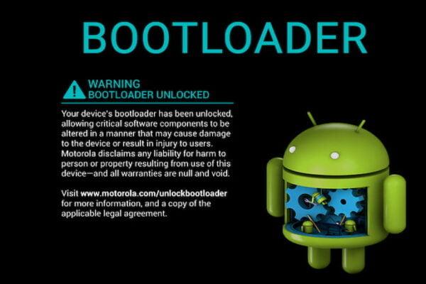 Bootloader uyarısı